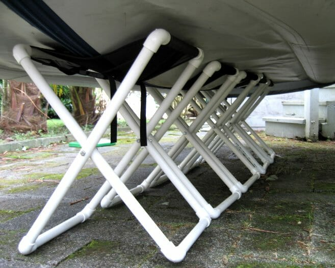 Delphin Dinghy on 5 folding stands
