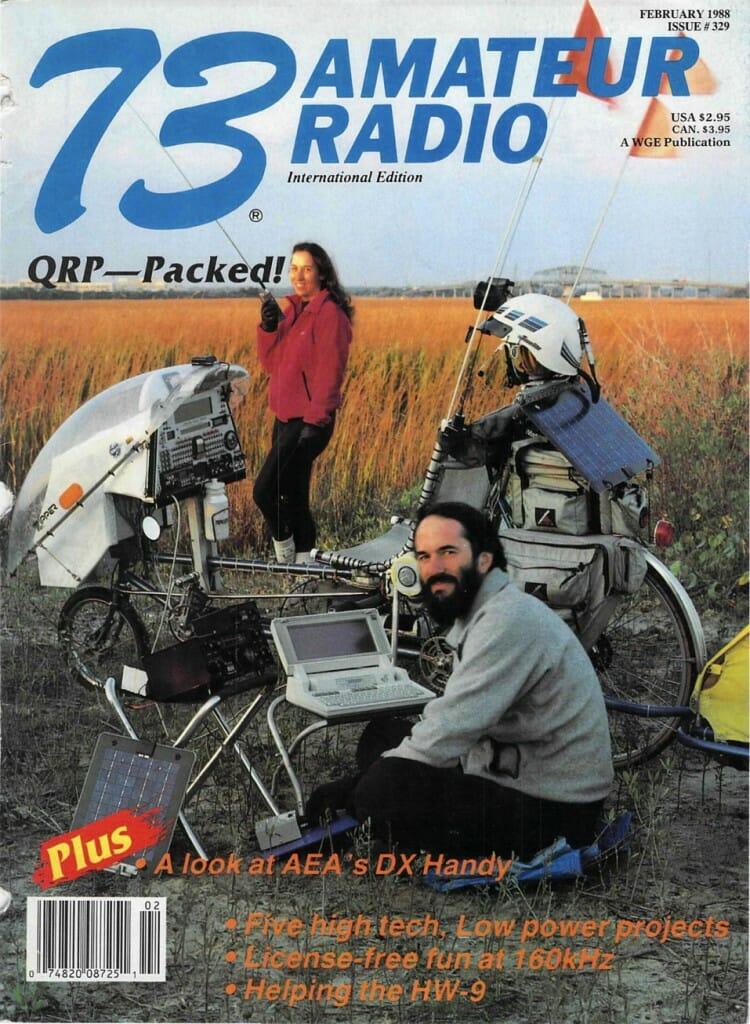 73 Magazine, Feburary 1988 cover - KA8OVA and KA8ZYW