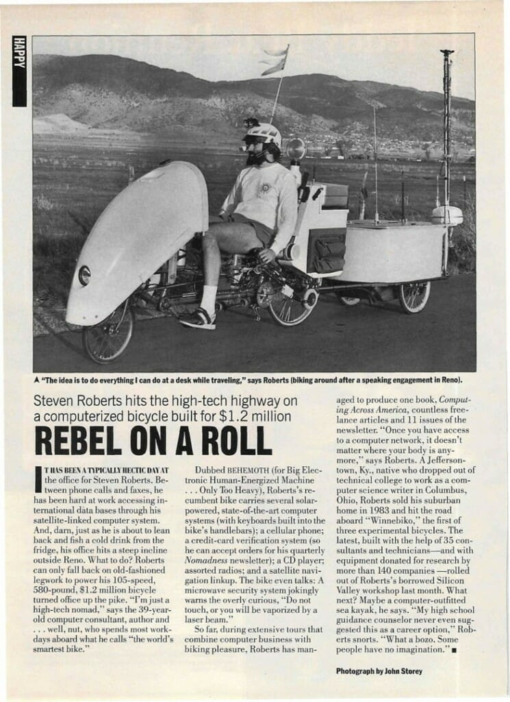 Rebel on a Roll article