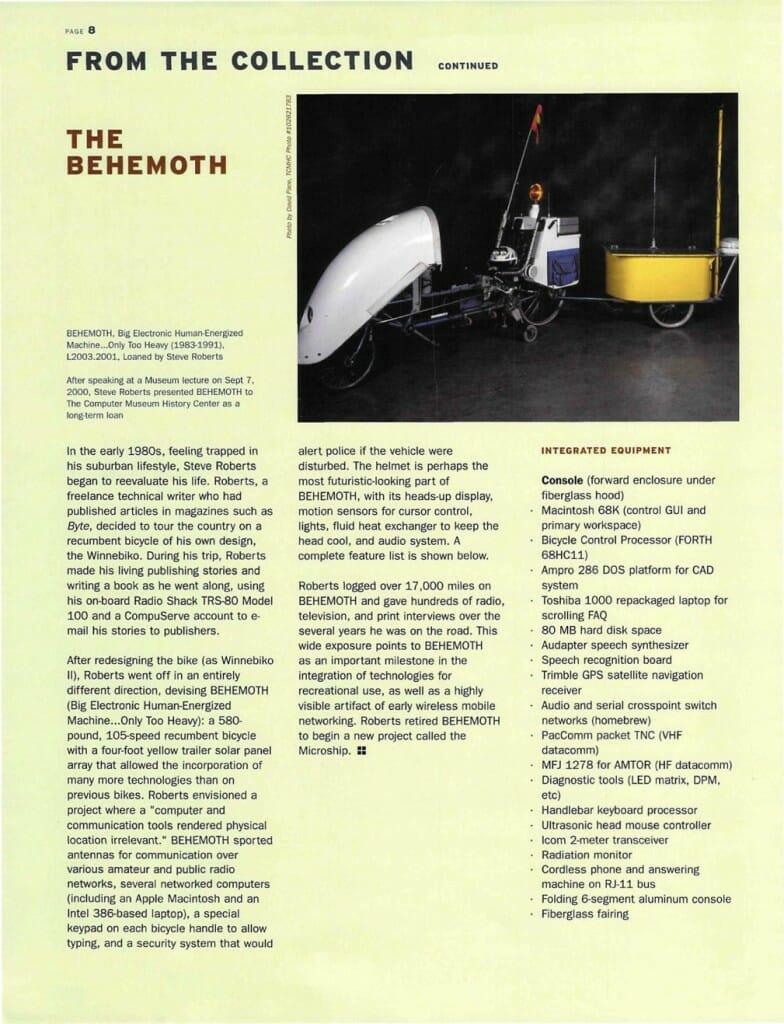 Computer History BEHEMOTH - 1
