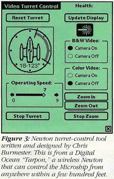 Microship video turret Newton control tool