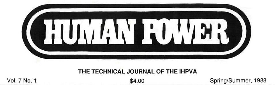 Human Power - IHPVA technical journal logo