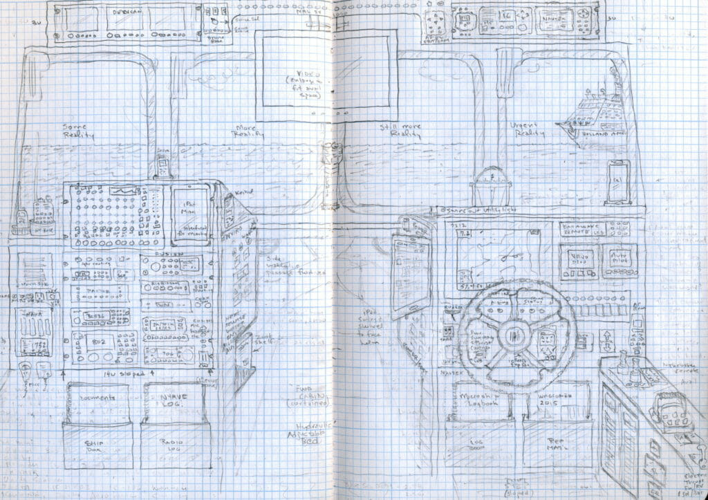 Planned Ranger 27 console sketch