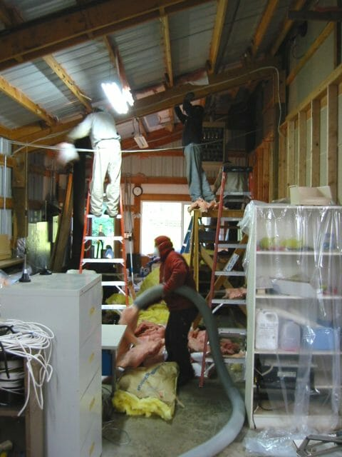 Insulation removal crew