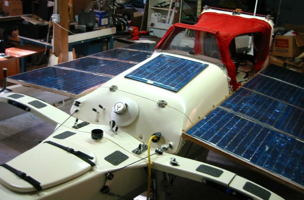 Microship with solar array