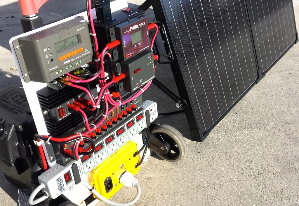 Datawake Power Cart Solar Test